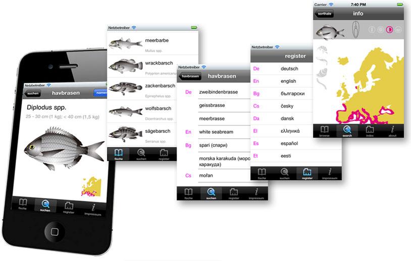 Fishfinder buch der fische sprachen europ ische for Fish finder apps